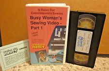 SEWING WITH NANCY ZIEMAN fashion Busy Woman #1 professional VHS blazer & blouse