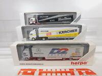CA298-0,5# 3x Herpa 1:87/H0 Sattelzug MB: 826023 + 867013 + 036290, NEUW+OVP