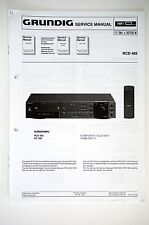 GRUNDIG RCD 405 Original Receiver Service-Manual/Anleitung/Schaltplan ! o53