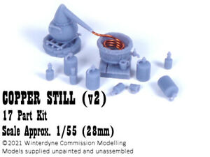 O/On30/1:48/28mm/32mm 3d printed Copper Still