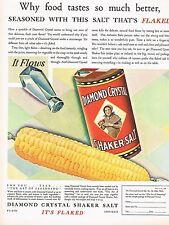 1920s BIG Vintage Diamond Crystal Salt Retro Kitchen Decor Food Art Print Ad