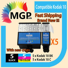 10x INK CARTRIDGE for KODAK 10 10BK 10C ESP 3250 5250 7250 3 5 7 9 PRINTER