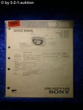 Sony Service Manual WM 3000 Cassette Player (#0689)