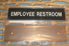 """New listing 8"""" x 2"""" Employee Restroom Office Door Sign 1- Silver 1-Gold Plate"""