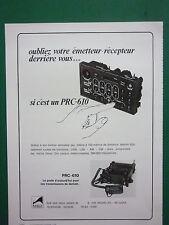 7/1978 PUB MBLE RADIO MILITAIRE EMETTEUR RECEPTEUR PRC-610 ARMEE BELGE FRENCH AD