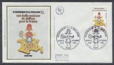 FRANCE FDC - 2202 1 RECENSEMENT DE LA POPULATION -27 Février 1982 -LUXE sur soie