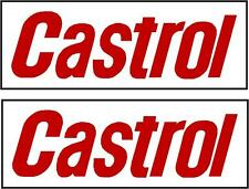 CASTROL Decals Stickers Race, Rally in Premium 7 year cast vinyl280mm x 80mm x2