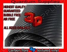 3D Fibra Di Carbonio Testurizzata In Vinile 1.52 m X 500mm Foglio Adesivo Aria Bolla libero