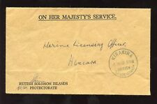 SOLOMON ISLANDS 1960 INTERNAL OHMS OFFICIAL PAID COVER