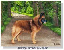 Belgian Shepherd Tervuren Dog North Belgium Sea Ocean OE Art Print SMOAR