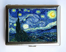 Starry Night Cigarette Case Wallet Business Card Holder fine art painting