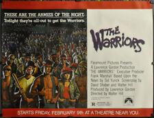 THE WARRIORS 1979 ORIGINAL 45X60 SUBWAY MOVIE POSTER MICHAEL BECK JAMES REMAR