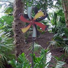 Spina Giardino Girandola Colorato 114cm Decorazione in Metallo Mulino a Vento