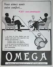 PUBLICITE OMEGA MONTRE BRACELET GOUSSET FEMME HOMME DE 1913 FRENCH AD ART DECO