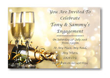 50 Personalised Engagement Party Invites ~ Invitations Ref EN5 Posted 1st Class
