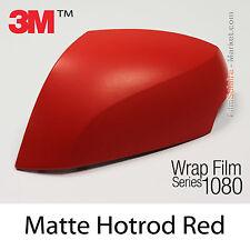10x20cm LÁMINA Mate Hotrod Rojo 3M 1080 M13 Vinilo CUBIERTA Nuevo Series