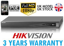 Hikvision NVR 3TB 8CH 8xPOE 6MP 1080P P2P red Mobile Monitor Video Grabadora