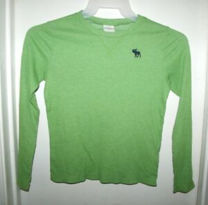 Abercrombie Kids Green Sweater Moose Logo Boys Size S Small