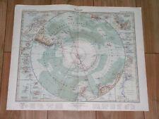 1932 ORIGINAL VINTAGE MAP OF ANTARCTICA SOUTH POLE POLAR