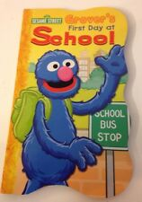 Sesame Street Board Book Grovers First Day At School NEW (S2)