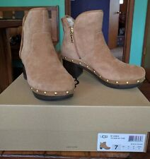 NEW with box UGG Australia Cam II Clog Platform Ankle Boots chestnut Size 6.5-7
