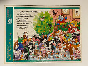 1994 Jim Henson Muppet Babies 12 Days Of Christmas Golden Frame-Tray Puzzle