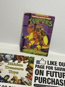 Vintage TMNT Ninja Turtles Playmates MINI MUTANT BIO CARD Part Accessory