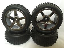 1/10 RC Nitro Electric Car Buggy Off Road Wheels Front Rear Studded Tyres GM