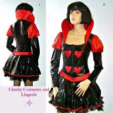 Queen Costume Gothic Halloween Mistress Vampire Black Red Size 8-10