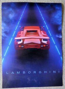 1986 RED LAMBORGHINI ARGUS WALL POSTER