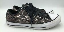 Converse All Star CTAS OX  Gunmetal Black Sneakers Womens Sz 6 557988C EUC