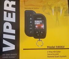 NEW VIPER 5906V 2-Way Security and Car Remote Start System w/ HD Color Remote