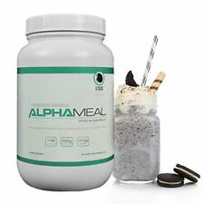 Alpha Meal Whey Isolate Protein Powder 924g - Cookies & Creme Flavor