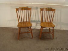 53151:Hitchcock Pair of Solid Maple Paint Decorated Chairs