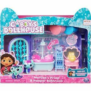 GABBY'S DOLLHOUSE Toys MERCAT'S PRIMP and PAMPER BATHROOM NEW SEALED