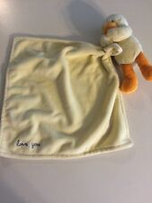"Carter's Yellow ""Love You"" Duck Security Lovey Blanket 11""x11"""