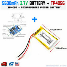 TP4056 + 3.7V 550mAh 612338 lithium polymer lipo rechargeable battery US