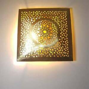 moroccan Handmade Wall Lamp Light Cover light Shape Pattern Squared Wall sconce