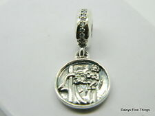 AUTHENTIC PANDORA CHARM GUARDIAN OF TRAVEL ST CHRISTOPHER DANGLE #791715CZ P