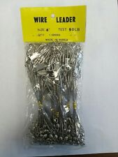 "1 Gross (144) Bright Interlock Coated Wire Fishing Leaders 6-12""- 45- 90Lb."