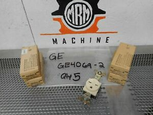 General Electric GE4069-2 Single Ground Receptacle 15A-250V 2 Pole 3 Wire New