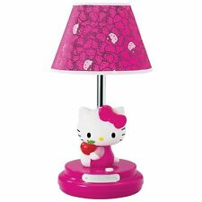 HELLO KITTY PINK KIDS GIRLS BEDROOM DESK DRESSER NIGHTSTAND TABLE LAMP NEW