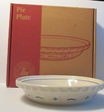 "New ListingLongaberger Pottery Woven Traditions Blue Deep Dish Baking Pie Plate 10 1/4"" Nib"