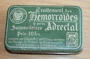 ancienne petite boite traitement des hémorroïdes médecine pharmacie