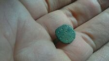 Beautiful decorated Roman Bronze ring lovely little artifact snapped at one side