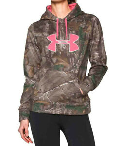 Under Armour Women's Camo Big Logo Hoodie in Realtree AP Xtra Discontinued Small