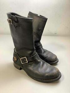 Men's Harley-Davidson Black Leather Biker Boots Size ??