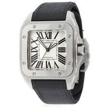 CARTIER Santos 100 XL Automatic 2656 Steel Watch W20073X8 Box/Booklet