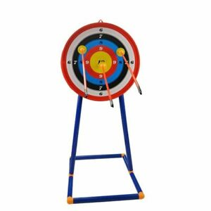 Kids Archery Target Dart Board Set with Sturdy and Durable ABS Stand for Indoor