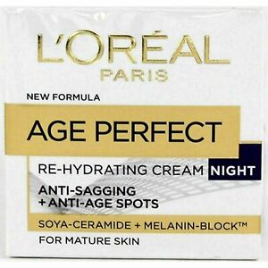 L'Oreal Paris Age Perfect Re-Hydrating NIGHT CREAM - For Mature Skin      UK NEW